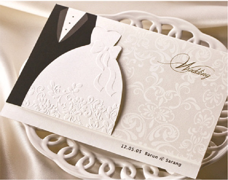 Aliexpress Buy Heat The Groom And The Brides Dress Western Style Wedding Invitation Card