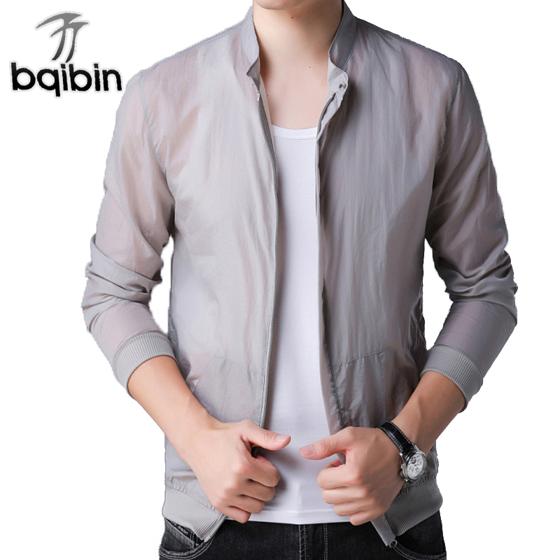 Fashion Male Jacket Coat Men 2018 Spring Business Casual Clothes Summer Thin Windbreaker ...