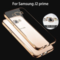 case for samsung Galaxy j2 prime / Grand Prime Plus silicone tpu rose gold plating tpu transparent clear soft thin phone cover