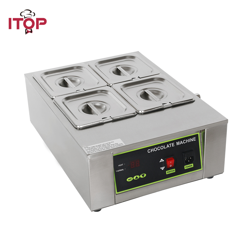 ITOP Commercial Chocolate Fountains, Digital Chocolate Melting Machine Adjustable temperature cylinder For Party Wedding ITOP Commercial Chocolate Fountains, Digital Chocolate Melting Machine Adjustable temperature cylinder For Party Wedding