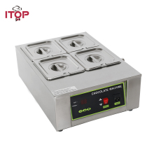 ITOP Commercial Chocolate Fountains, Digital Chocolate Melting Machine Adjustable temperature cylinder For Party Wedding