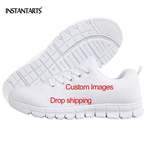 INSTANTARTS hommes chaussures décontractées Cool médical hommes chaussures hommes baskets respirant maille lumière Super Saiyan Goku appartements pour les étudiants