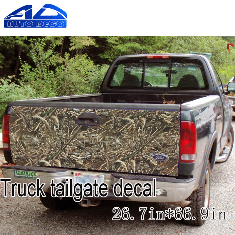 Truck Tailgate Decal Wrapping Sticker Adhesive PVC Graphic Grass Real Tree Leaf Vinyl free shipping 1pc 580mm dirty tire 4wd off road graphic vinyl sticker for 4x4 truck pickup decals badges detailing sticker