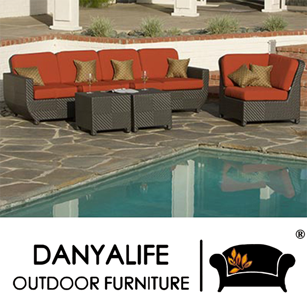 DYSF D7502 Danyalife Luxury Poly Synthesis Rattan Outdoor Sectional ...