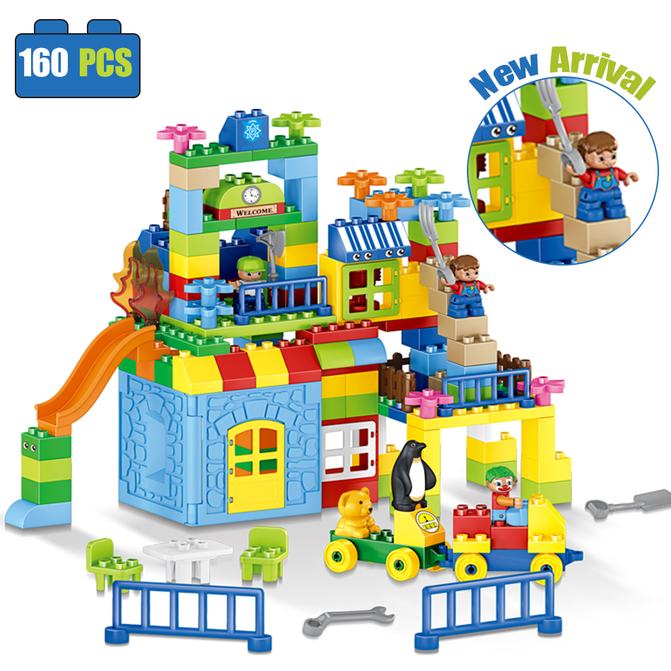 160pcs colorful Building Blocks Set City DIY Creative Bricks Compatible Legoed Duplos Educational Block Toys For Children friend hot sale 1000g dynamic amazing diy educational toys no mess indoor magic play sand children toys mars space sand