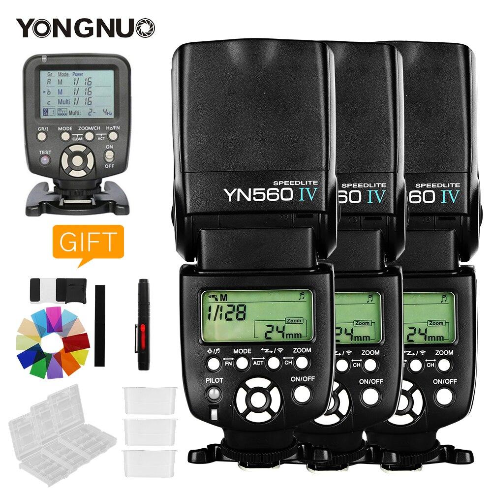 3PCS Yongnuo YN560 IV YN560IV YN560TX Flash Controller For Canon Nikon with free 3 Flash Diffuser