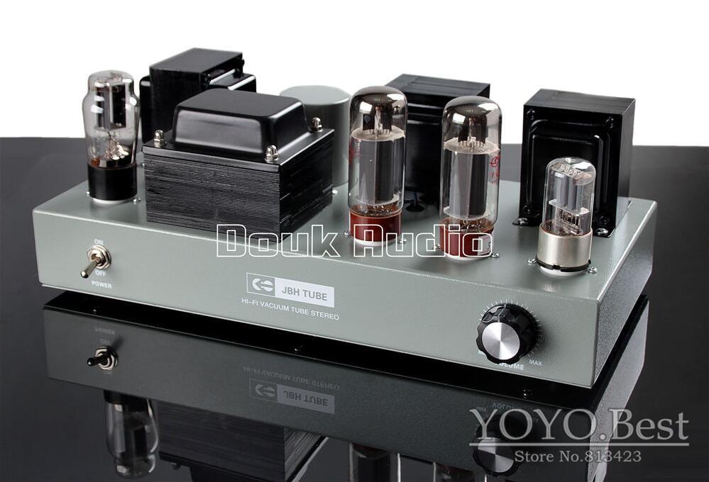 все цены на 2018 Lastest Douk Audio EL34 Vacuum Tube Amplifier Single-ended Class A Stereo Desktop Power Amp 110~240V