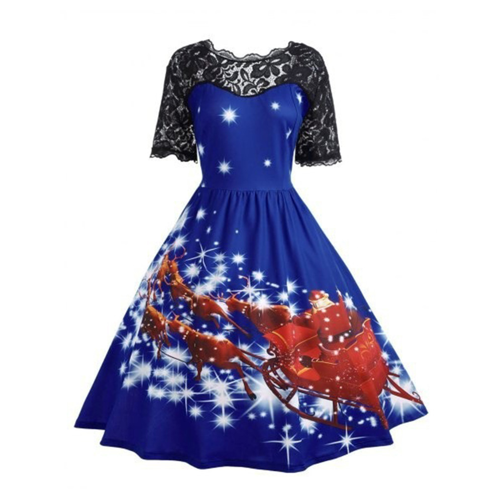High Quality Dress 1950s Novelty Women`s Simple Hot Sale Hot Individual Stylish Classical Trend Gift Christmas