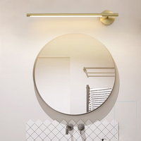 Makeup Table Full Copper Mirror Light Modern Simple Vanity Light Toilet Dressing Table Washroom Villa Hotel Makeup Bathroom Lamp
