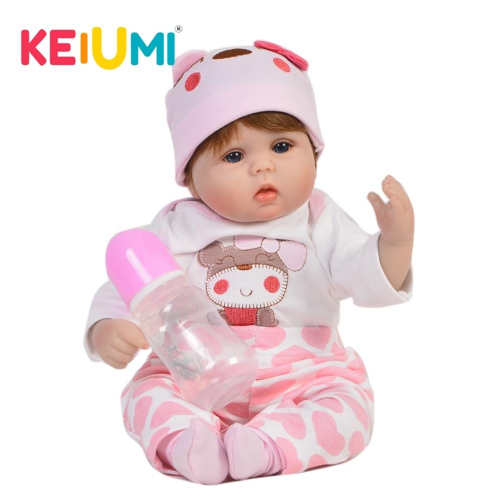 KEIUMI 愛すべき 17 ''リボーン人形赤ちゃんソフトシリコーンボディファッション 43 センチメートル女の赤ちゃんのおもちゃぬいぐるみ Pp リボーンプレイメイト  グループ上の おもちゃ & ホビー からの 人形 の中 1