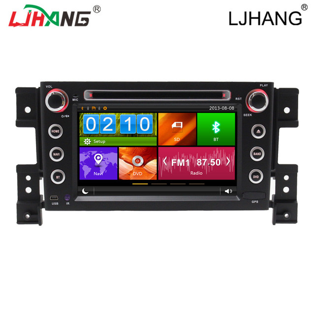Touch screen car radio audio player for Suzuki Vitaria with BT SWC, support reversing camera RDS steer wheel control, RDS