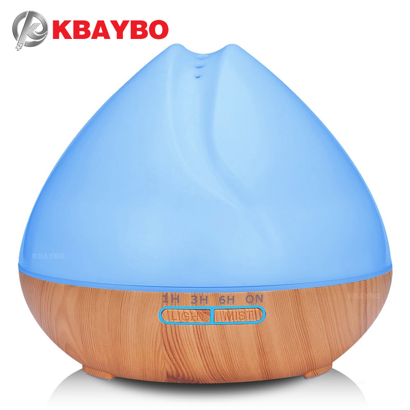 400ml Aroma Essential Oil Diffuser Ultrasonic Air Humidifier with Wood Grain 7 Color Changing LED Lights for Office Home Bedroom400ml Aroma Essential Oil Diffuser Ultrasonic Air Humidifier with Wood Grain 7 Color Changing LED Lights for Office Home Bedroom