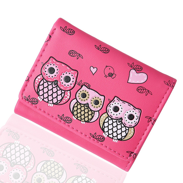 Charming Owls Printed Small Leather Girl's Wallet