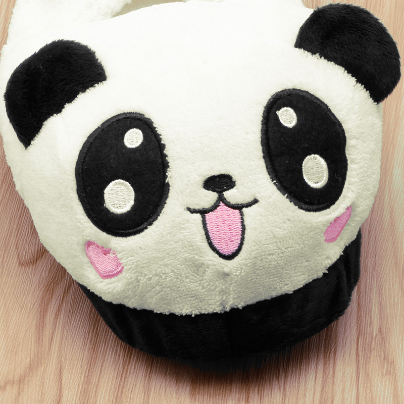 Hot Deals╪THINKTHENDO Cute Panda Eyes Women Cute Slippers Lovely Cartoon Indoor Home Soft Shoes