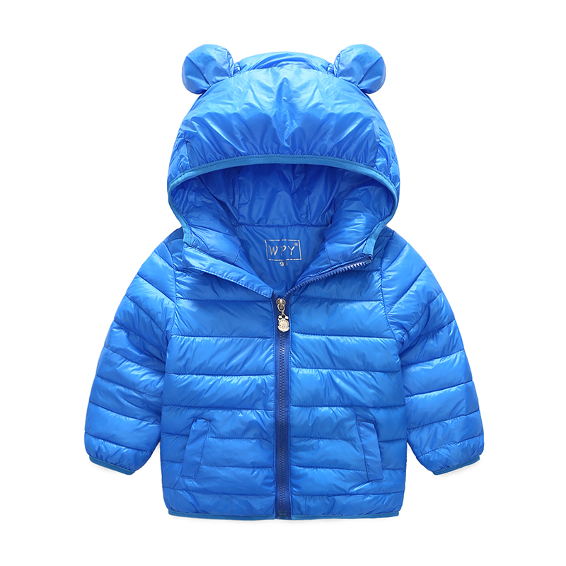 2017 autumn and winter fashion new boys and girls medium baby bag cute short paragraph warm cotton jacket jacket for 2-3-4-5year