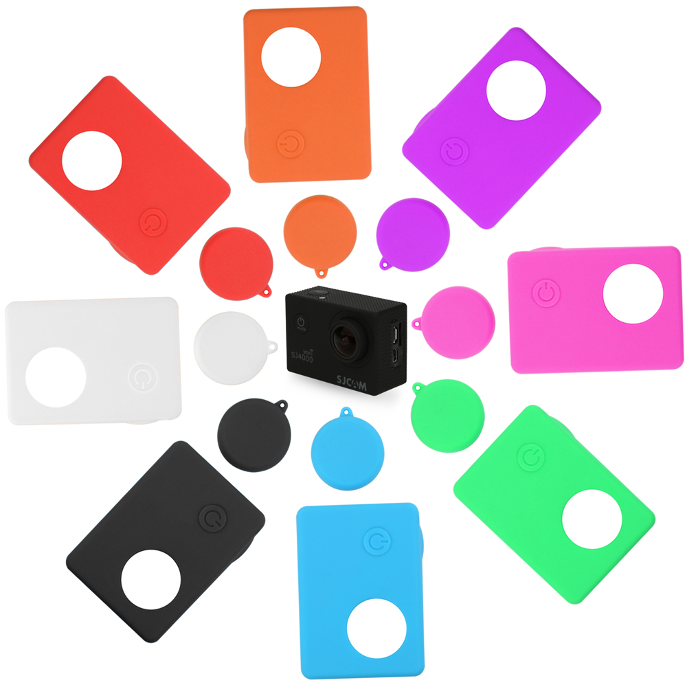 Silicone Case For SJCAM SJ4000 WIFI SJ5000 SJ7000 SJ9000 Soft Protective Cover For Eken H9 H9r GoPro Hero 3 Series Action Camera