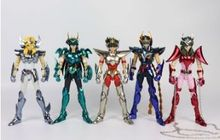 Büyük oyuncaklar phoenix ikki pegasus Draco shiryu hyoga Andromeda shun v3 son EX bronz GT aksiyon figürü metal zırh