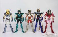 ของเล่นที่ยอดเยี่ยม Phoniex Ikki Pegasus DRACO shiryu hyoga Andromeda Shun V3 Final EX Bronze GT Action FIGURE เกราะโลหะ