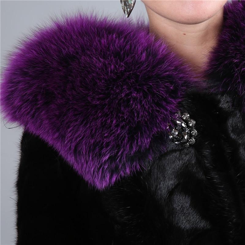 2018 Vison Fourrure Pleine 02 D'hiver Réel Avec Véritable Les Manteau Femmes De Arrivall Fox Nouveau 01 Outwear Pour Col Femme qwxp4rXq