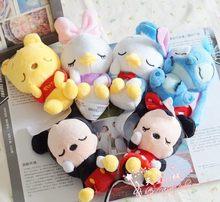 11cm Q-version plush doll Tsum Tsum Mini Plush Toys Doll Screen Cleaner Mickey Minnie Winnie chipmunk Daisy Free Shipping