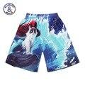Shorts dos homens novos da Forma 3d animal print vermelho cabelo gato adorável 3d shorts da praia de malha respirável shorts curtos calça