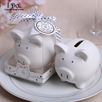 Free Shipping Ceramic Piggy Bank Wedding Favors And Gifts For Guests Souvenirs Decoration Baby Shower Gifts