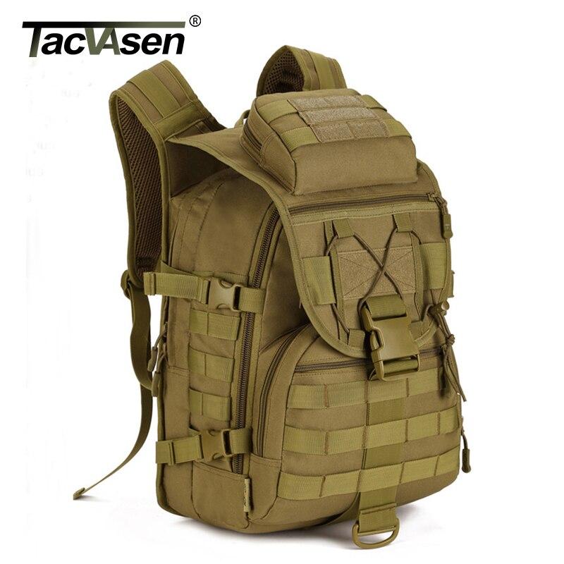 TACVASEN męska plecak wojskowy kamuflaż torby na laptop wodoodporna podróży plecak 40L żołnierz armii walki plecak TD SHZ 010 w Plecaki od Bagaże i torby na  Grupa 1
