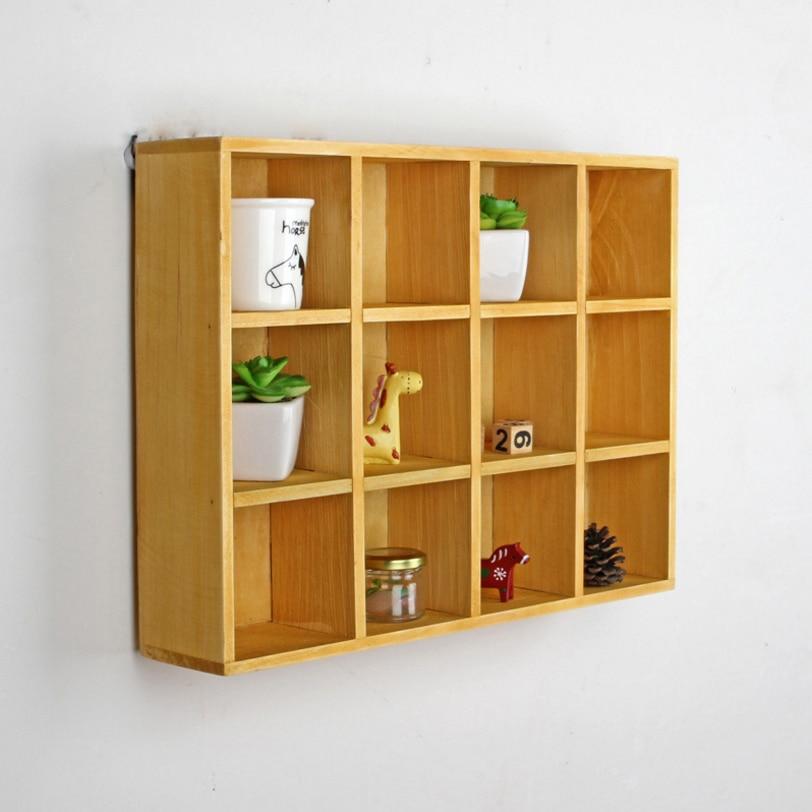 Neue Zakka Sundries Aufbewahrungsbox Vintage Holz Wohnzimmer Vitrine Wand Hangen Holzkisten Dekorationen Organizer SN053 In