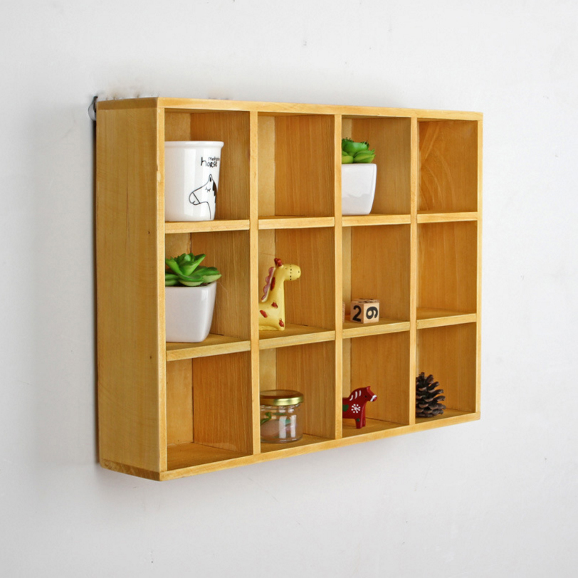 New Zakka Sundries Storage Box Vintage Wood Living Room Display Case Wall Hanging Wooden Boxes Decorations Organizer SN053 In Bins From Home