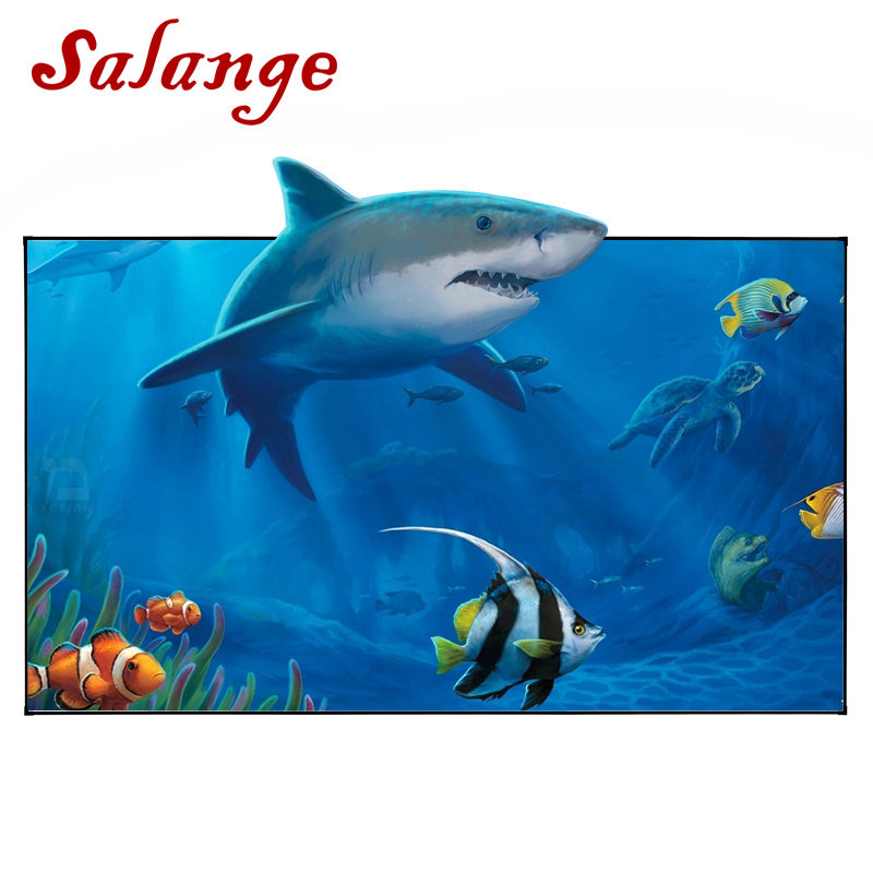 Salange Reflective Fabric Projector Screen 60 72 100 120 inch 16:9 4:3 For XGIMI H1 Z6 UNIC UC46 UC40 JMGO Projector Proyector 60 72 84 100 120 inch grey screen reflective fabric projection screen for xgimi h1 h2 h1s z6 z4 jmgo j6s projector beamer