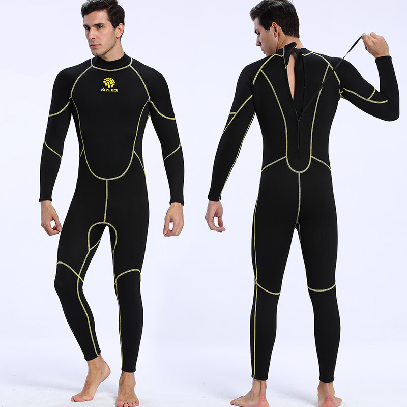 Men's 3mm thick thermal wetsuit black color long sleeve long pants diving suit deep sea swim wears size S-XXL kut from the kloth new deep black women s size 2 chinos cropped pants $59