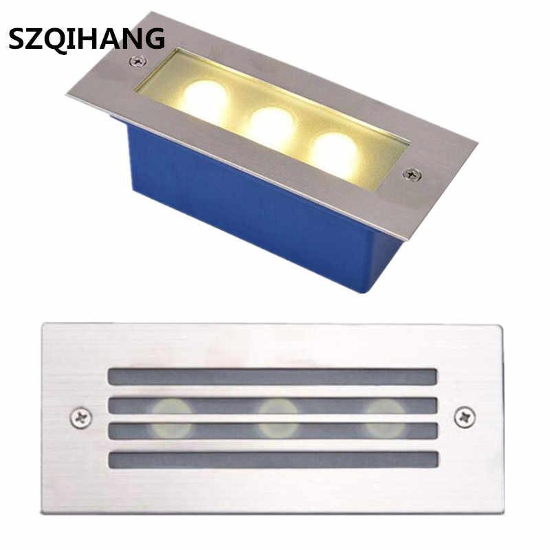 Светодиодный светильник 3x2 Вт подземный светильник утопленная для ступенек лестницы Paitio Inground Spot Light пол сад пейзаж наружное настенное освещение