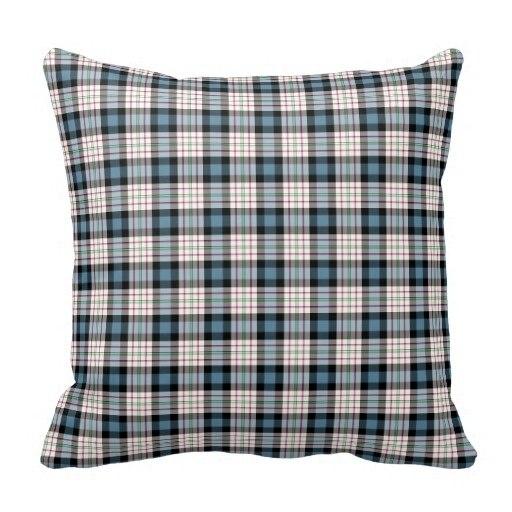 Curly Clan Ferguson Dress Blue font b Tartan b font Throw Cushion Cover Size 45x45cm Free