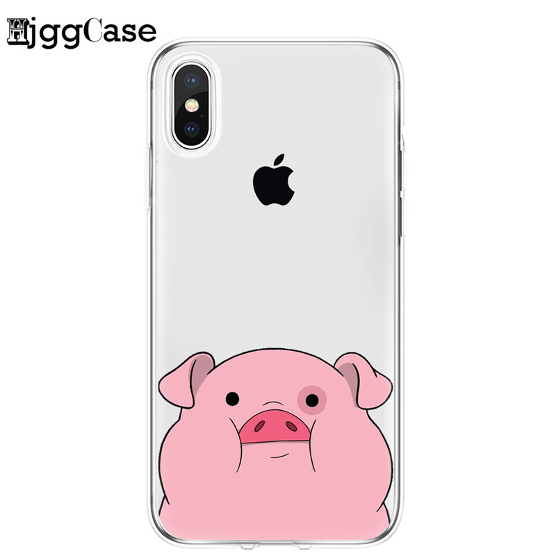 Pink Pig Clear Soft Silicone Phone Skin Coque Phone Case For iPhone11 Pro Max 8