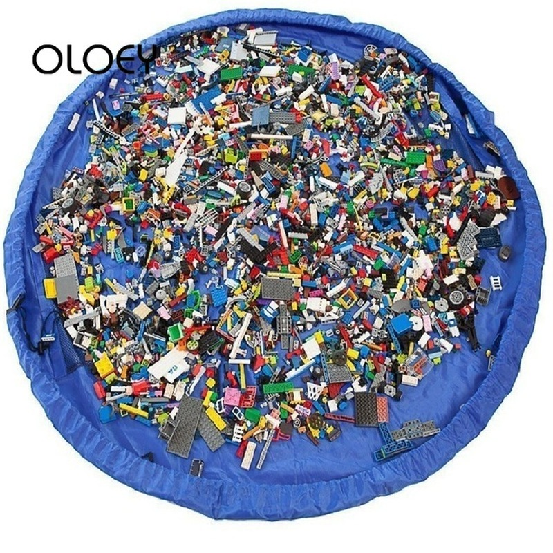 OLOEY Kids Children Toy Storage Bag Play Mat Rug Carpet Organizer Basket Large Capacity Blanket Boxs