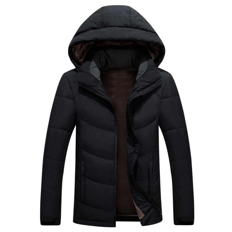 2018 abrigo de invierno cálido para hombre, chaqueta de plumón de pato blanco, abrigo para hombre, Parka, con capucha, ropa de marca para hombre, Casaco, Masculino
