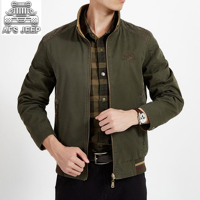 23ec312946c AFS JEEP Brand Reversible Men Jackets Loose New 2018 Autumn Winter Warm  Cargo Military Coats Casual Healthy 100% Natural Cotton