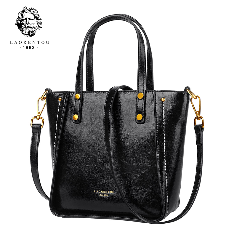 LAORENTOU Brand Lady Vintage Handbags High Design Women Shoulder Bag Female Internet Icon Style Crossbody Bag with Teenager vintage women s crossbody bag with color block and buckle design