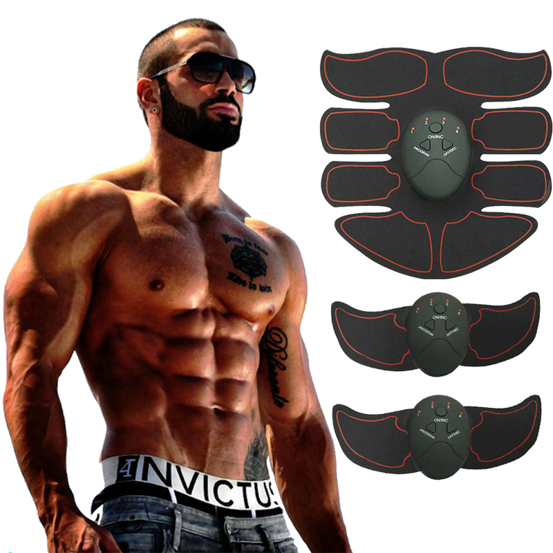 Neue Smart EMS Muscle Stimulator ABS Bauchmuskeln Toner Körper Fitness Gestaltung Massage Patch Sliming Trainer Exerciser Unisex