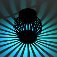 Classic Outdoor Solar Power LED Candle Light Yard Garden Decoration Umbrella Tree Lantern Hang Hanging Lamp