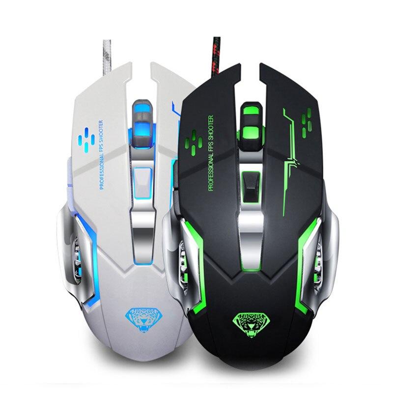 IceRay Professionelle 6D 3200 dpi Wired Gaming Computer Maus Mit Stille Klicken Für Gamer