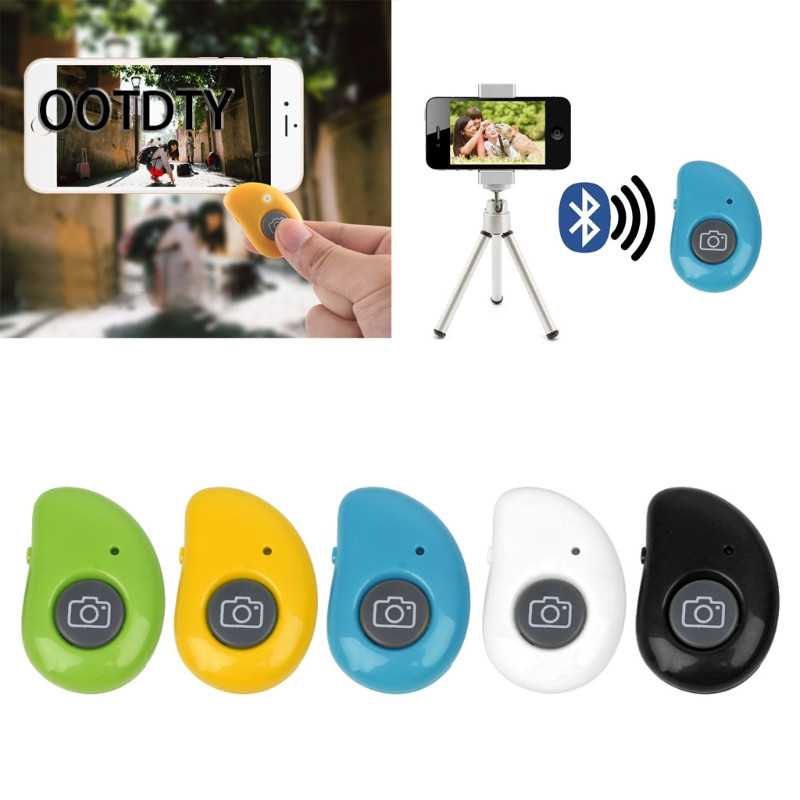 OOTDTY Shutter Release Bluetooth Wireless Bluetooth Selfie Shutter Button Remote Control For Smartphone Tablet PC