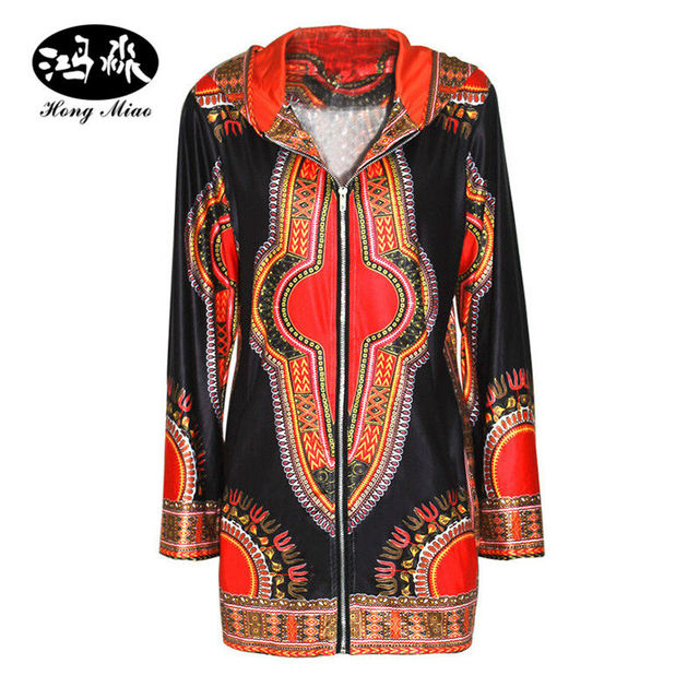 f709ccc3bb7 2017 autumn Women Basic Coats Dashiki Plus Size Slim Traditional African  Clothing Chaquetas Mujer Duster Coats And Jackets