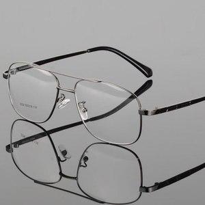 Image 2 - Mode Retro Metall Große Box Runde Brille Rahmen Myopie Männer Brillen Optische Verordnung Doppel Brücke Brillen
