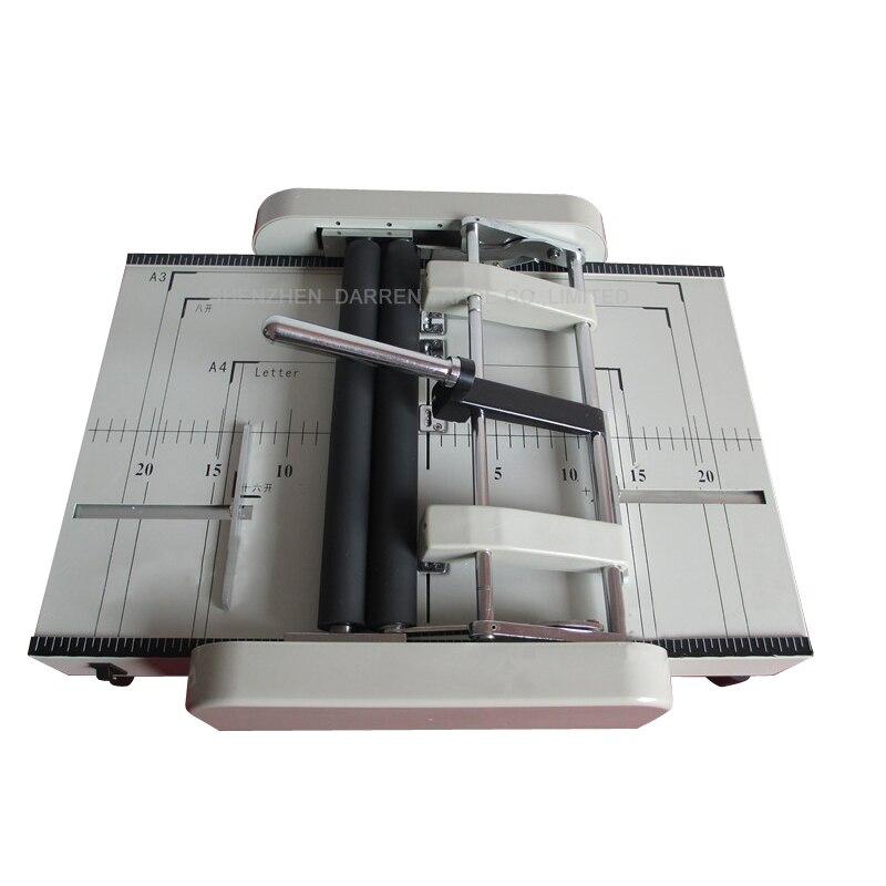 220 v/110 v A3 גודל חשמלי מתקפל מכונת נייר מכונה קיפול אוטומטי חשמלי מהדק נייר מכונת כריכה