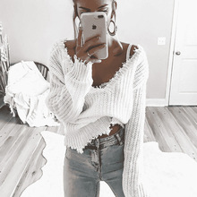 MUXU fashion white sweater women sweaters and pullovers long sleeve knitted chompa pullover harajuku