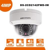 Original Updatable HIK 4MP Wireless CCTV Camera Outdoor DS-2CD2142FWD-IW WiFi Dome IP Camera PoE IP Camera