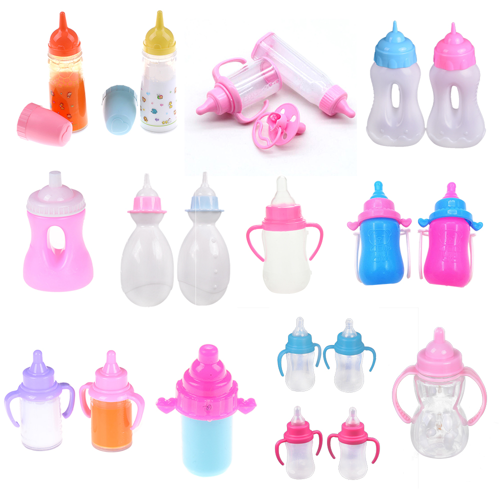1/2/3pcs Milk Bottle Nipple Doll Feeding-Bottle Funny Baby NewBorn Doll Accessories For 43cm/ 18inch Gill Doll