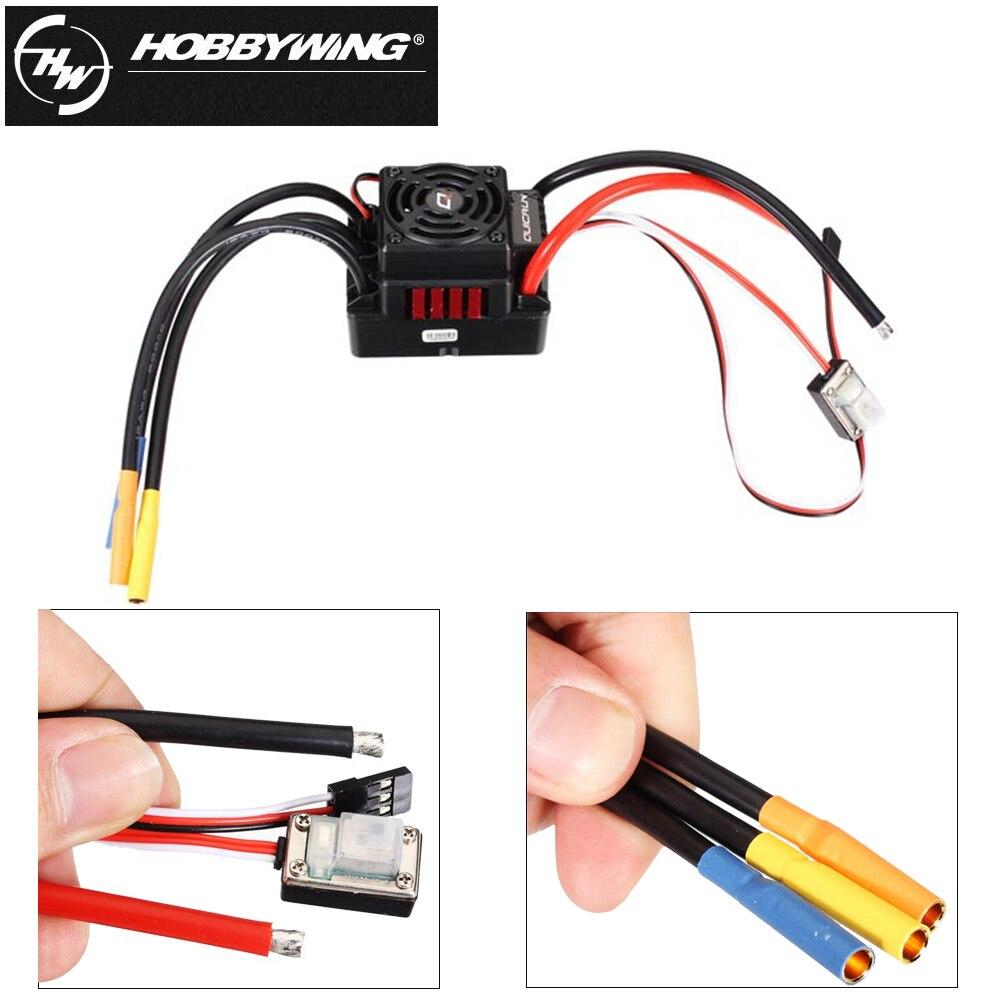 1 piezas Hobbywing Quicrun 8BL150 impermeable sin cepillo sin sensor 150A ESC roca ESC para 1/8 Rc Coche