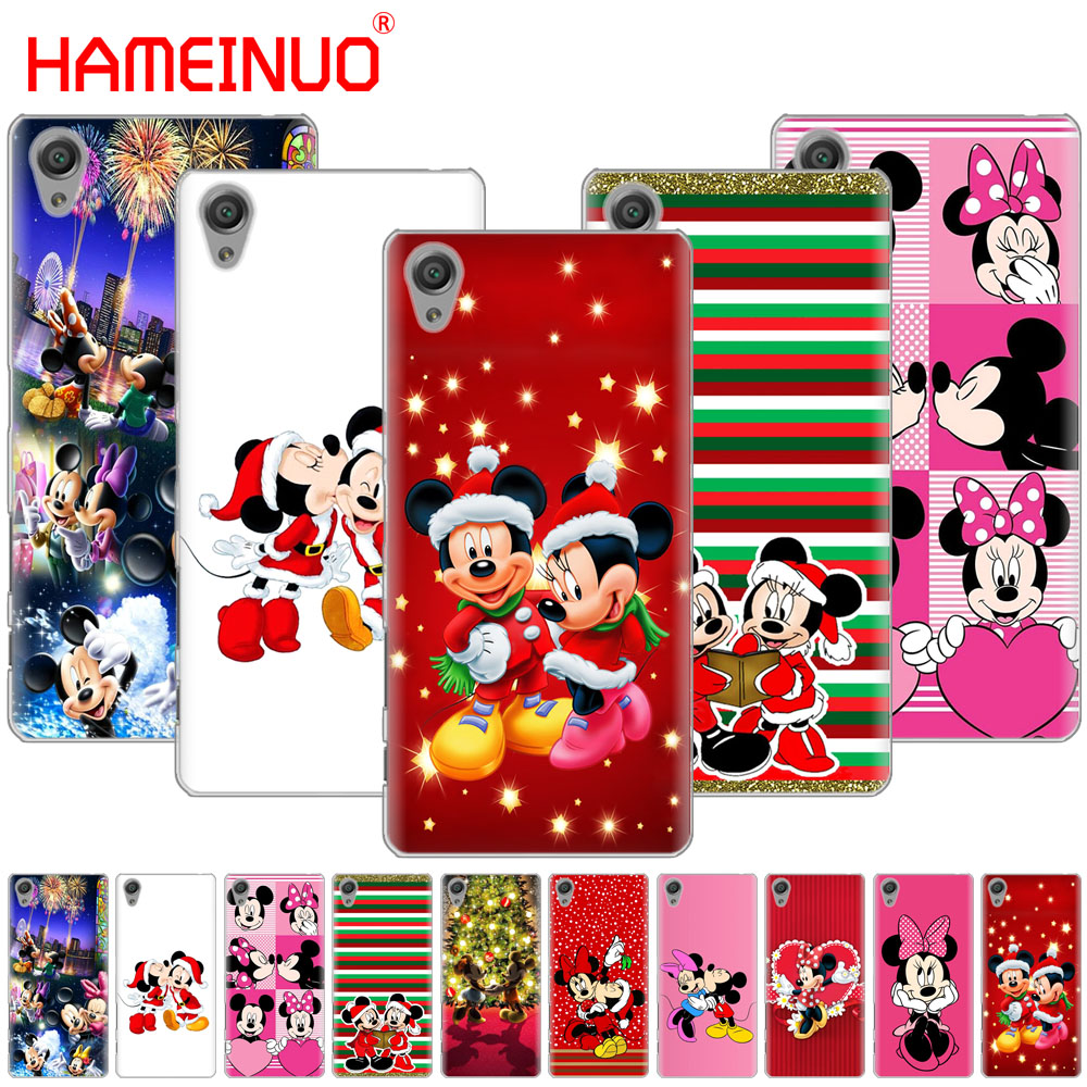 hameinuo mickey minnie mouse christmas phone case for sony xperia c6 xa1 xa2 xa ultra x xp l1 l2 x xz1 compact xrxz premium